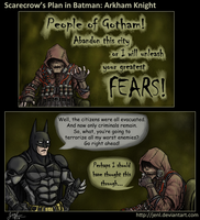 Scarecrow's Plan in Batman: Arkham Knight by JenL