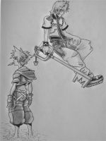 Sora and Roxas by TheCloudchaser