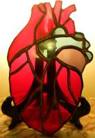 Glass Anatomical Human Heart by GhostyBoo