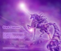 Black Unicorn Poem by BlackUniGryphon