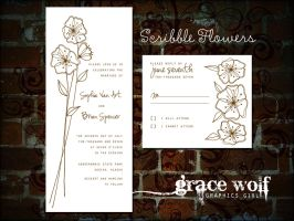 scribble flower brushes by graciewolf