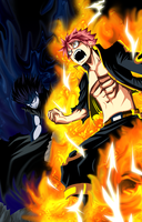 Fairy Tail the two dragons by natsuki-oniichan