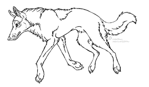 Wolf Lineart by LoboSong