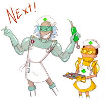 Surgeon Rick and Nurse Morty by Arkham-Insanity