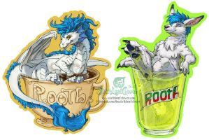 Rooth Drink Badges by The-SixthLeafClover