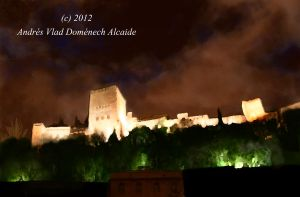 Alhambra at Night 01 by Vladsnake