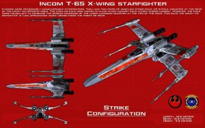T-65 X-wing starfighter [2][New] by unusualsuspex