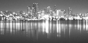 Seattle - City BW by Fukfire