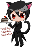 Devilishy Talented Cat Butler by ChiKirarin