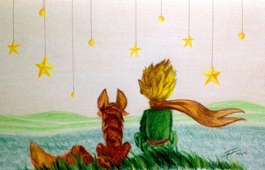 The Little Prince and The Fox by rileyandersen