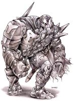 Warforged Sorcerer Pencils by D-MAC