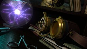 Mad Science 3D scene by AriaWho
