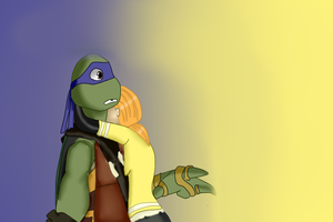 Donnie and April Hug by anthirules