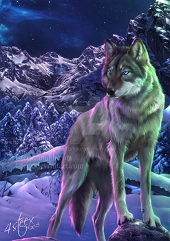 commission: 'The Way of the Wolf' ebook cover by 4steex
