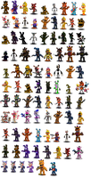 Fnaf (Canon and Fan-made) Characters Canon V1(Old) by Educraft