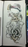 Watercolors on a Sketchbook by tolagunestro