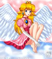 Angel Princess Peach by SigurdHosenfeld