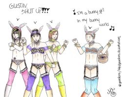 Bunny girls_Tokio Hotel by Gaaraterra