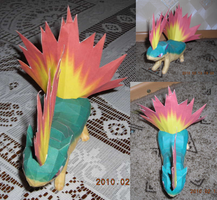Quilava papercraft by Weirda-s-M-art