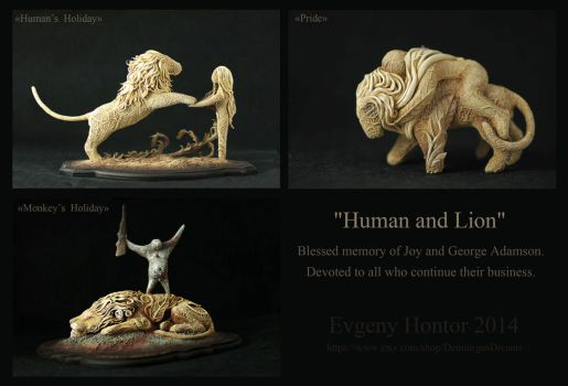 Human and Lion by hontor