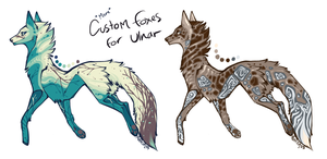 More Custom Foxes for Ulnar by Hauket