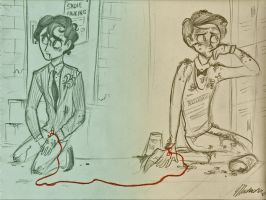 Klaine: Red String of Fate by Muchacha10