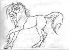 another horse drawing by zimaro