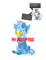 Adoptable Blue Canine by xHavick-Doptables