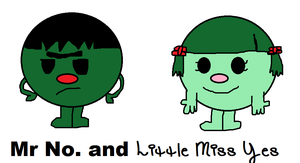 Mr. No and Little Miss Yes by hershey990