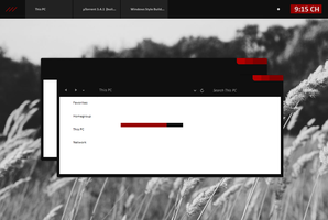 Black Red Minimal Windows 8.1 by cu88