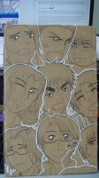 Cardboard Hetalia Faces by Prez-Koko