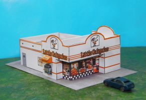 Little Caligulas Pizza Palace! In N Scale by CatLoafTrain