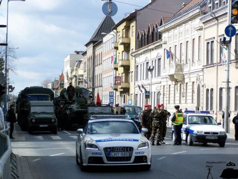 march past in Gyor 2010 -1 by morpheus880223