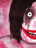 Watercolor: Jeff the Killer by scanoli