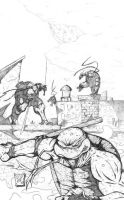 TMNT penciled by thetoothless1