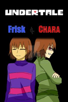 Frisk and Chara(Undertale) by MarsyChaos