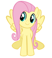 Fluttershy sitting on the ground by RED4028