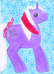 My little Pony - Powder - ACEO by Flicksi