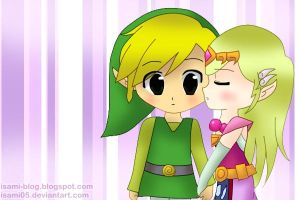 Toon Link and Toon Zelda 2 by Isami05