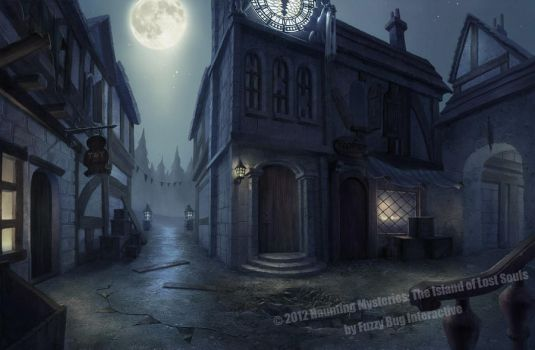 haunted town, hidden object game/hopa game by novtilus