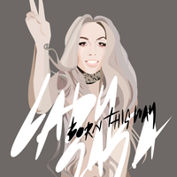 Born This Way Album Cover by skullsxsequins