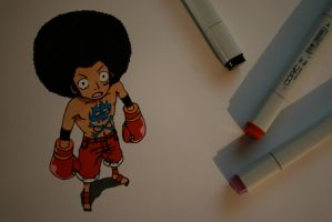 Afro Luffy by JessicaYin