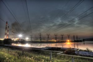 Thermal power plant by Fil3D