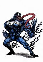 Venom Color Sketch by deemonHunter360