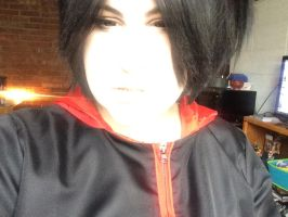 Uchiha Sasuke makeup and wig test 7 by isalteverything