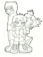 Chibi Gaara and Co. by kemu