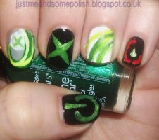 Xbox Nail Art by ellie1980