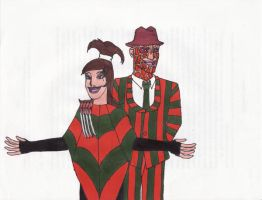 Freddy+Ally-Beetlejuice Style by Dragon-hobbit101