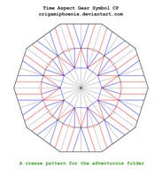 Time Aspect Symbol Crease Pattern 1.0 by OrigamiPhoenix