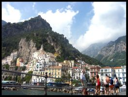 Amalfi from the sea by Phil-Kay